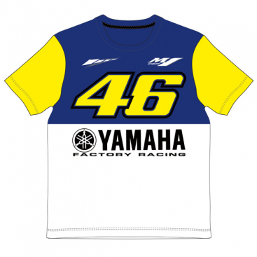 VR46 Yamaha Kids T Shirt Blue