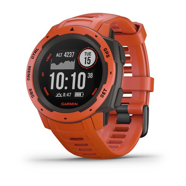 Garmin Instinct GPS Watch Flame Red : Nevis