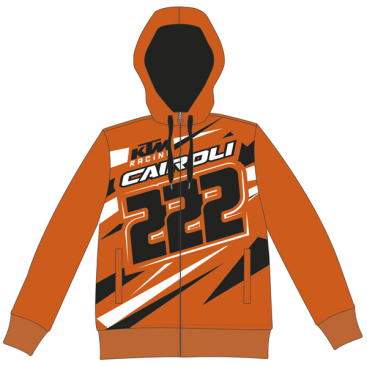 VR46 TONY CAIROLI FLEECE KTM ORANGE
