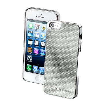 MOMO CARBON Silver Cover iphone5