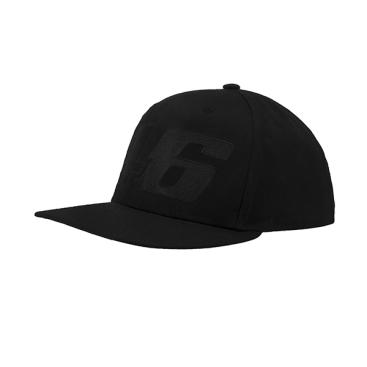 VR46 ADJUSTABLE CAP BLACK