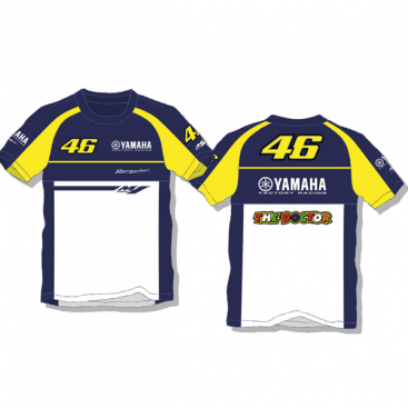 VR46 Yamaha T Shirt Blue