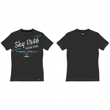 VR46 T-SHIRT MELANGE DARK GREY
