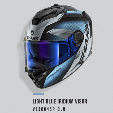 SHARK VISOR A/S LIGHT IRID BL SPARTAN GT