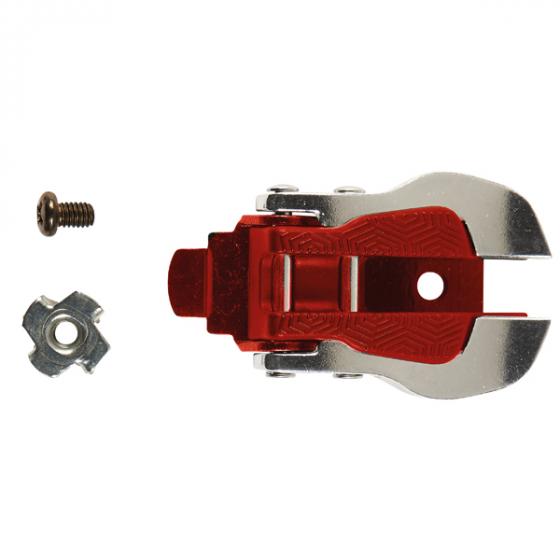 TCX Aluminium + Nylon Buckle Slv/Red