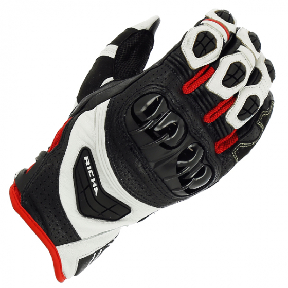 RICHA STEALTH GLOVE BLK/WHT/RED