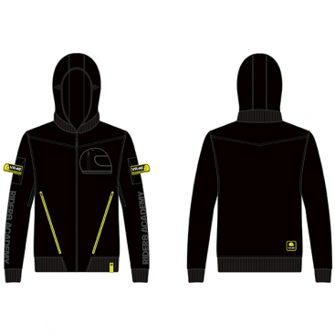 VR46 HOODY  ZIP FLEECE