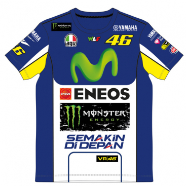 VR46 Yamaha Replica T Shirt Blue