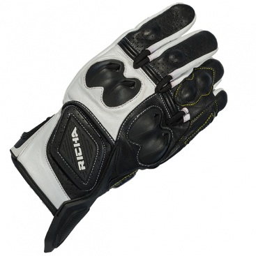 RICHA INDY GLOVE BLK/WHT