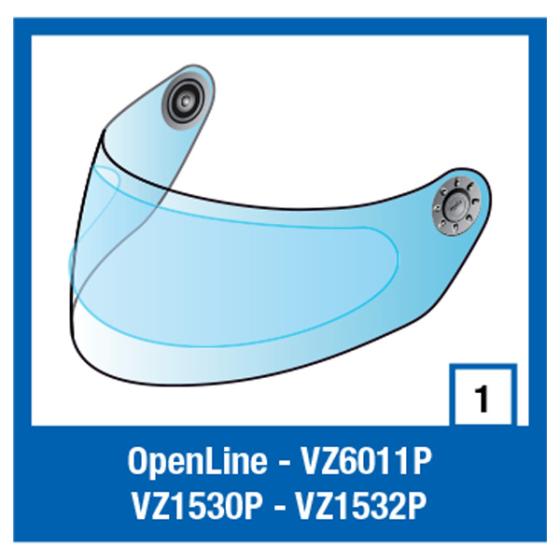 Shark S900/7/8/6 Visor & Pinlock/RIDILL