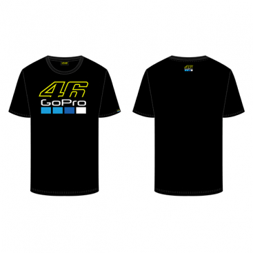 VR46 T-SHIRT 46 GOPRO BLACK