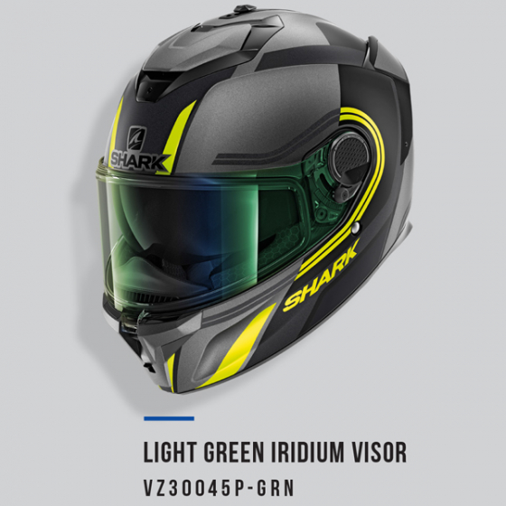 SHARK VISOR A/S LIGHT IRID GR SPARTAN GT