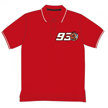 VR46 Marquez Kids Polo Shirt Red
