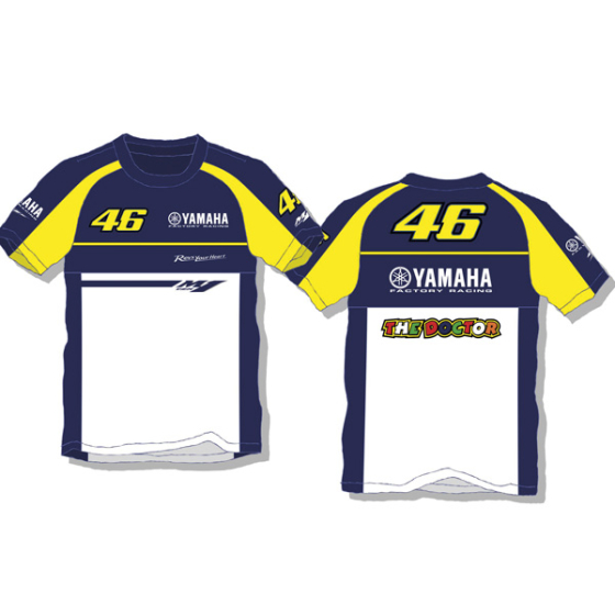 VR46 Yamaha T Shirt Blue