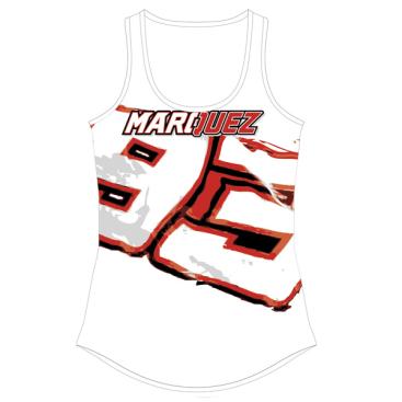 VR46 Marquez Lady Tank Top Wht