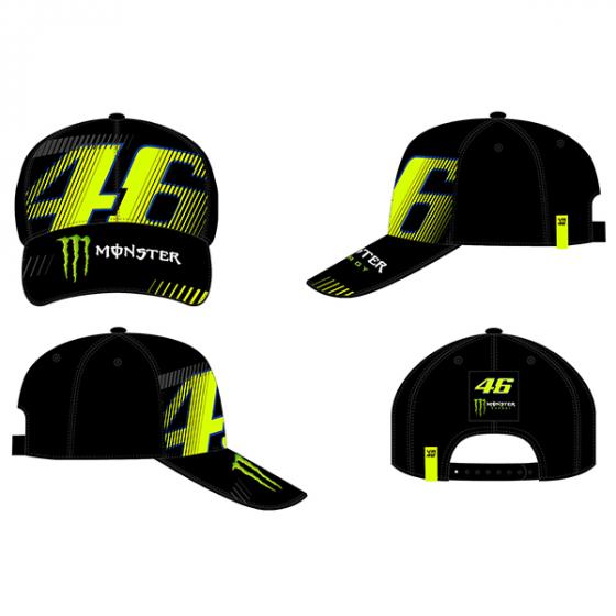 VR46 CAP MONZA BLACK