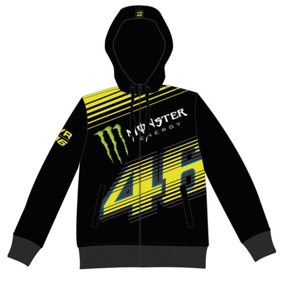 VR46 Monster fleece Monza Blk