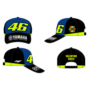 VR46 CAP RACING BLUE ROYAL YAMAHA