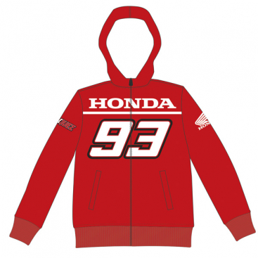 VR46 Honda Kids Fleece Red
