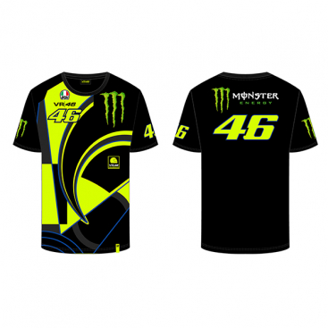 VR46 T-SHIRT REPLICA BLACK