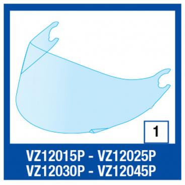 Shark Vision R (non T/V) Visor Blue