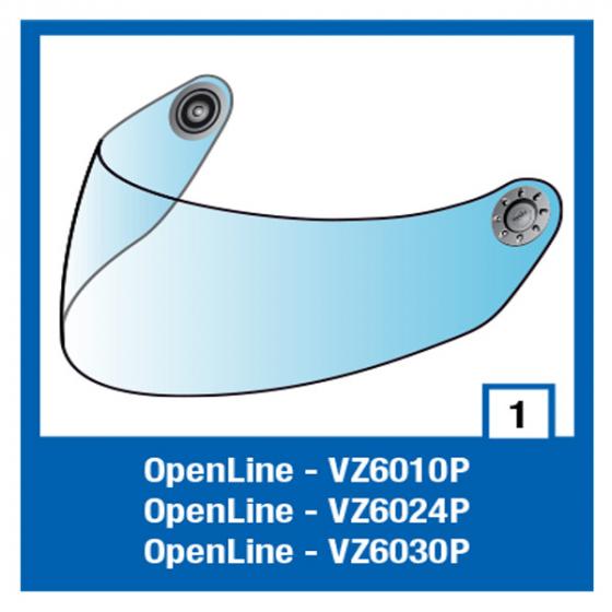 Shark clear visor S600/700/OPEN/S900/RIDILL  NEW