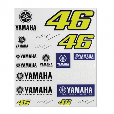 VR46 STICKERS SMALL SET RACING MULTICOLO