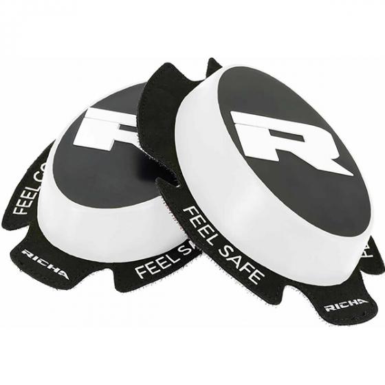 Richa Racing 'R' knee sliders white