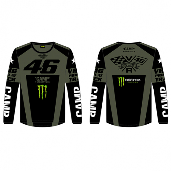 VR46 LONG SLEEVE T-SHIRT CAMP GREEN