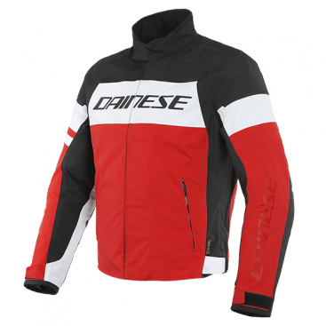 DAINESE SAETTA D-DRY JACKET A60 WHITE/LAVA-RED/BLACK