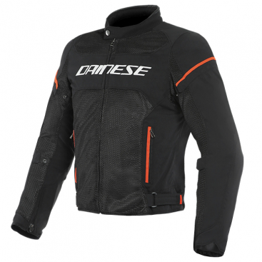 DAINESE AIR FRAME D1 TEX JACKET N32 BLACK/WHITE/FLUO-RED